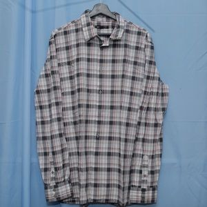 John Varvatos Red Plaid Button Down